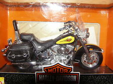 HARLEY 2000 Heritage - Black & Yellow -  1:18 Diecast - Series CE