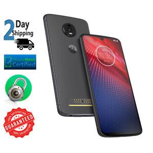 Motorola Moto Z4 XT1980-4 128GB Flash Gray Verizon GSM Unlocked Smartphone