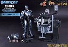 Hot Toys MMS203 ROBOCOP 1 ROBOCOP 1/6TH SCALE DIE-CAST Fig W Chair Docking Stati
