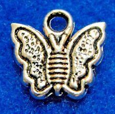 15Pcs. Tibetan Silver Cute BUTTERFLY Charms / Pendants / Earring Drops BF30