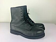 Sz 14 R Addison Black Leather Steel Toe Military Combat Work Boots USA Vibram So