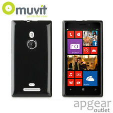 GENUINE MUVIT NOKIA LUMIA 925 BLACK MINI GEL GLAZY MUSKI0280 PHONE CASE COVER