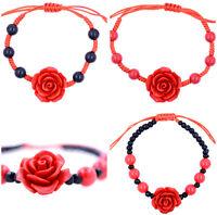 Rojo Laca rosa pulsera diseños diferentes
