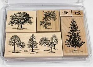 Stampin Up Set of 6 Wood Block Stamps 2001 Lovely as a Tree RETIRED
