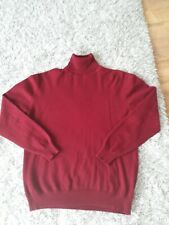 MENS CASHMERE MED LONG SLEEVED JUMPER POLO NECK  BY GUISE EXCELLENT CONDITION