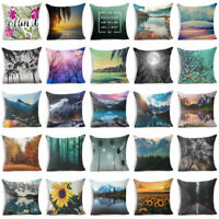 "Cotton linen 18"" Forest pillow case cover sofa waist cushion cover Home Decor"