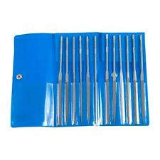 Friedr. Dick Gmbh (Medium) Tooth Needle File Set (12) Shapes W/ Handle -Germany