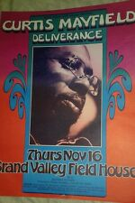 CURTIS MAYFIELD  ORIGINAL POSTER BY GARY GRIMSHAW.