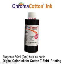 1 IMAGENTA COLOR INK REFILL BOTTLE INKJET PRINTER  PRINT COTTON T-SHIRT  60ml