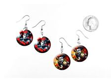 Harley Quinn Tongue Out Sexy Silly Joker Batman 2 Pairs of Charm Earrings