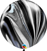 """30"""" BLACK & WHITE SUPERAGATE PACK OF 2 PARTY SUPPLIES"""