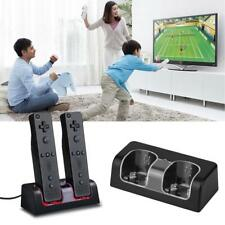 Black Wii Remote Control Charger Charging Dock Station+2 Rechargeable Batteries