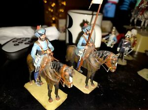 LIGHT CAVALRY MADRAS MOUNTED METAL TOY SOLDIER  ON HORSEBACK