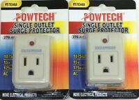 Surge Protector Single Outlet With Power Suppressor-270 Joules 1875 Watt 15A 2pc