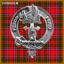 Chisholm Scottish Clan Badge, Pewter