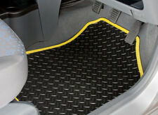 TAILORED RUBBER CAR MATS WITH YELLOW TRIM FOR NISSAN JUKE (2010 ONWARDS) [2188]