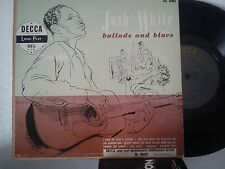 LP 25 cm JOSH WHITE-BALLADS AND BLUES VOL. 1-I GIVE MY LOVE A CHERRY + 7