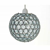 Modern Chandelier Style Ceiling Light Shade Droplet Pendant Acrylic Crystal Bead