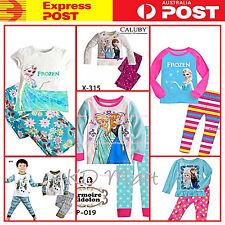 New Boys Girls Frozen Princess Elsa,Anna,Olaf Pyjamas Clothes PJ Size2.3.4.5.6.7