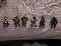 🔥🔥 6 RARE Teenage Mutant Ninja Turtles Mirage Studios Playmates Toys 1988-1991