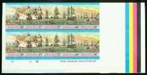 Anguilla 1971 Sea Battles set in proof block of ten