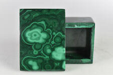 Malachite Jewelry Box Handmade in Congo  5.5 cm   # 9439