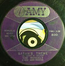 The Rondels 45 Garage Surf Rocker Twin Instro 1961 Satan's Theme My Prayer  VG