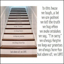 New Design Stair Riser Stickers In THis House Rules High Quality Cut Transfer