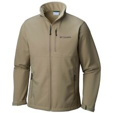 New Columbia Ascender Softshell Jacket Men's Size Small Color: Tusk (Tan)