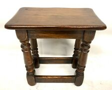 Antique Style Oak Joint Stool / Occasional Table / Lamp Stand (87)