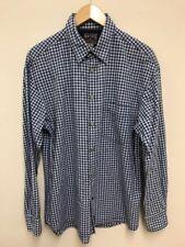 NAUTICA Uomo Casual Check Camicia Bianco Blu con colletto Pearl Snap Taglia Media