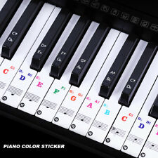 Colorful Music Keyboard Piano Stickers For 49, 37 ,61or 88-KEY Piano Removable