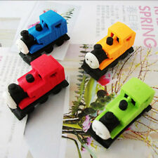 2x Train Shaped Rubber Eraser New Cartoon Erasers Students School Supplies