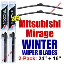 WINTER Wiper Blades 2-Pack Premium - fit 2014+ Mitsubishi Mirage - 35240/160