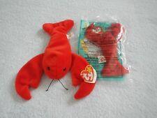 Ty Beanie Baby & Teenie - Pinchers - Red Lobster - June 19 Birthday -Pvc Pellets