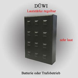 elektronischer Dreiklang Gong 3 Klang DÜWI antrazid Trafobetrieb möglich