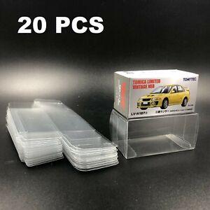 20PCS Protector Box for 1/64 TOMICA PREMIUM TLV Matchbox Hot Wheels Display Case