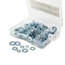 T.K. Excellent SAE DIN125 Flat Washer Zinc Plated Assortment Kit,300Pcs