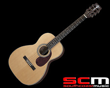 RRP$799 Aria APDLXEN Parlour Size Acoustic Guitar Slotted Headstock Abalone
