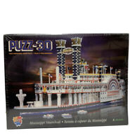 Big Beautiful Wrebbit Puzz 3D Mississippi Steamboat Puzzle - New Sealed in Box