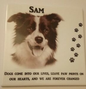 Memorial Photo Plaque Personalised  Dog Cat Pet loving memory Sign Grave Marker