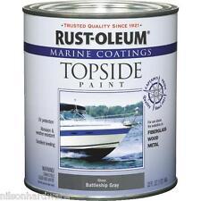 1 Qt Battleship Gray RustOleum Fiberglass Marine Boat Topside Gloss Paint 207005