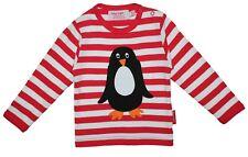 Toby Tiger Organic Cotton Long Sleeved Applique Penguin T-shirt