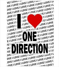 I Love One Direction - A3 Poster - Gift Birthday Christmas Stocking Filler