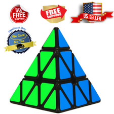 Rubiks Cube Puzzle Magic Triangle Pyramid Speed Game Twist Toy Kids Rubix Brain