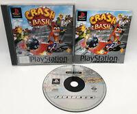 Crash Bash Bandicoot (3+) (PlayStation Platinum, PS1) Great Condition Complete
