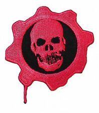 """Gears of War RED OMEN SKULL Embroidered Logo PATCH 4"""""""