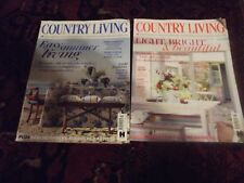 country living magazines x 2