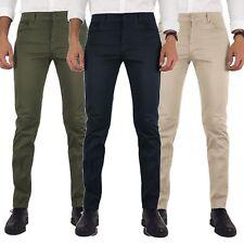 Pantaloni uomo estivi cinque tasche slim fit blu verde beige grigio nero ITALIA