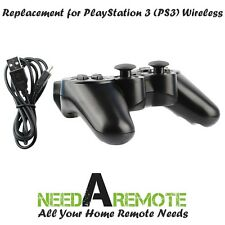 Black Wireless Bluetooth Game Controller For Sony PS3 Playstation 3 P3 Charger